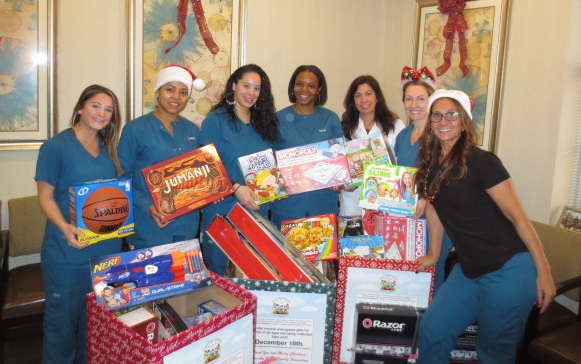 the staff with hance toy drive